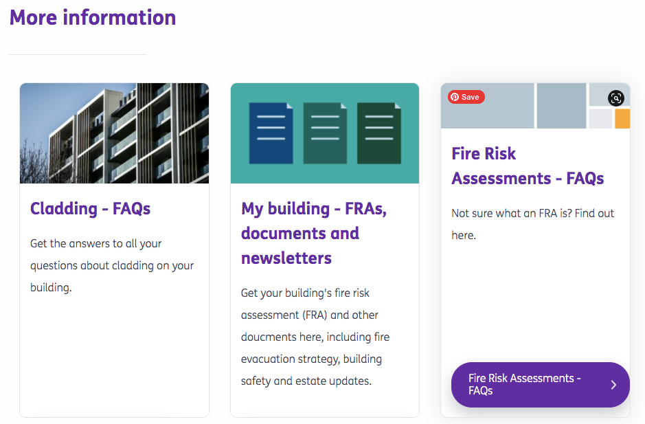 Network Homes website screenshot fire safety page